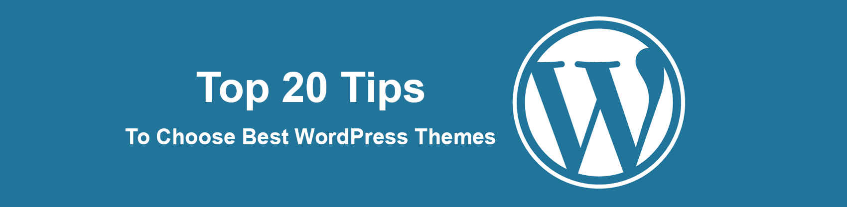 Top 20 Tips to Choose Best WordPress Themes