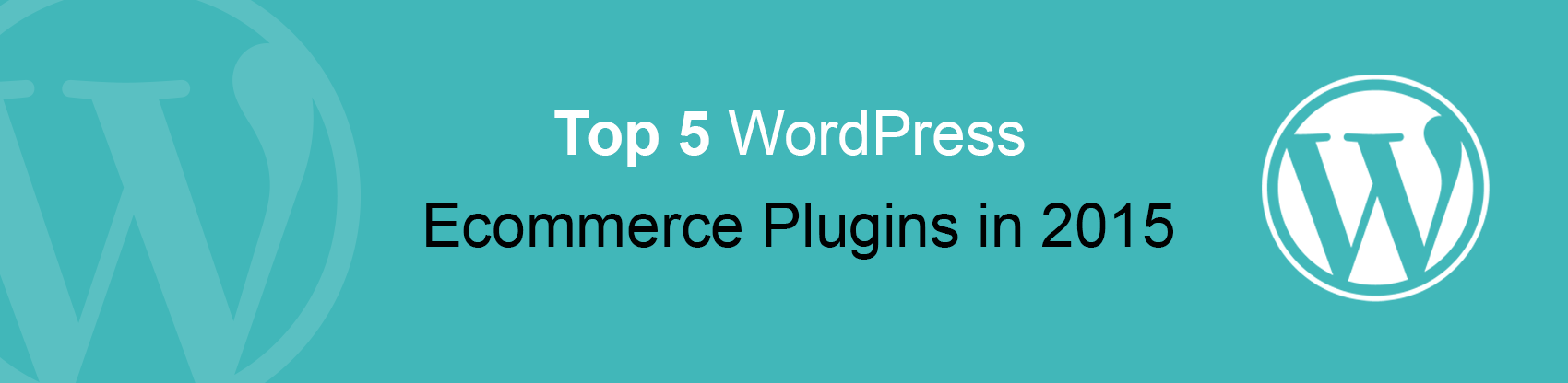 Top 5 WordPress Ecommerce Plugins