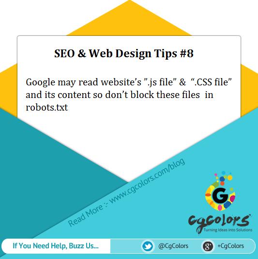 seo web design tip - .js file' & '.css file'