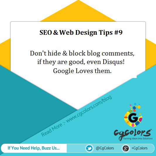 seo web design tip - hide blog comment