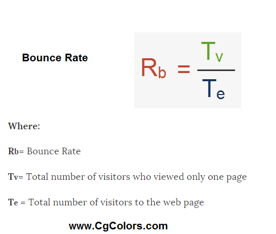 Formula for Calculate Bounce Rate