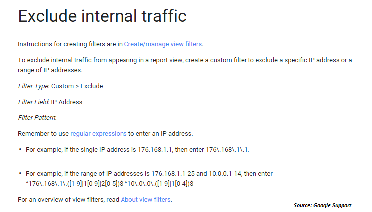 Exclude Internal Traffic Google Analytics