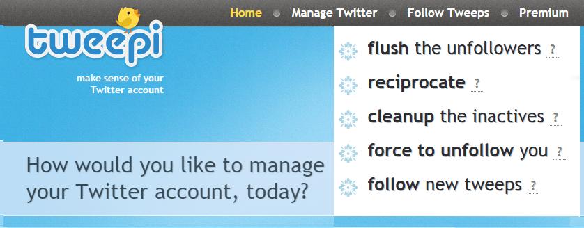Tweepi Flush Unfollowers