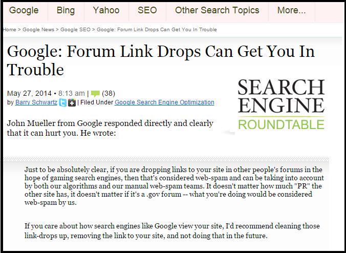 Forum Links SEO