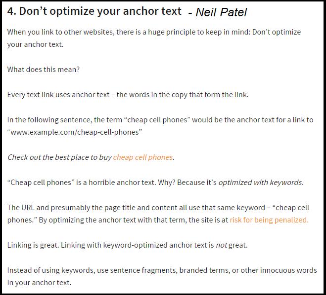 Anchor Text Optimizing