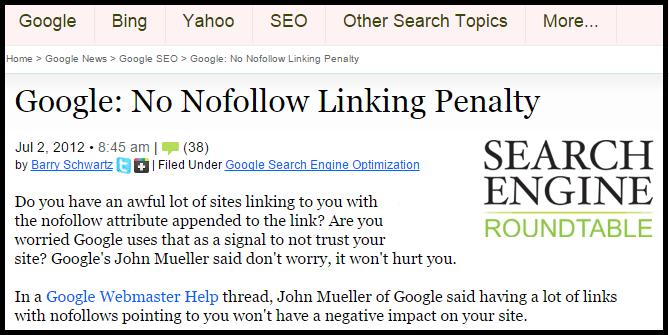 No Follow Links Ok